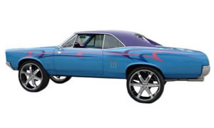 View pics of 73-77 Chevy A body lifted on 24s, 26s, and 28s. Cutlass, Monte Carlo, Chevelle are some of the cars shown.