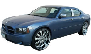 View pics and images of Dodge Charger, Magnum, 300c with lift kit and extended spindles installed.