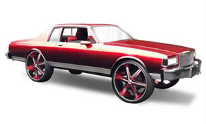 View photos of Box Chevy Caprice, Impala, Lesabre, Delta 88 cars on 26s, 28s, 32s, 30s.
