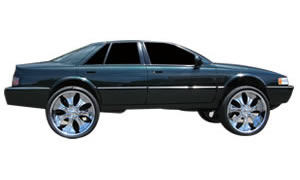View pictures of lifted donked out front wheel drive cars like Cadillac, Seville, Deville, STS, DTS.