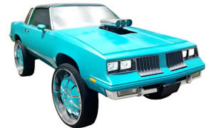 View pictures of Monte Carlo, Cutlass, Regal, El Camino with lift kits and 26s, 28s, 30s, and 32s.