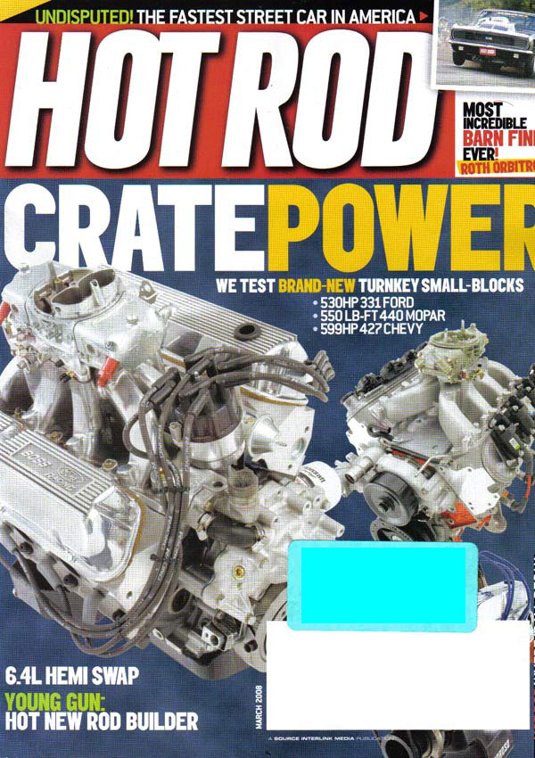 UCL lift spacer cups featured in Hot Rod Magazine.