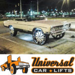 GM early B body suspension lift spindle conversion kit for 65-70 Caprice, Impala, Belair, and Biscayne.