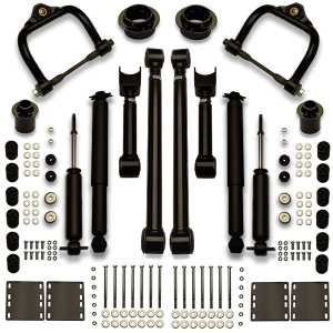 Complete suspension lift leveling kit for Grand Sport, Skylark, Special, Sport, Chevelle, Malibu, Nomad, SS and more.
