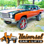 Gorilla lift kit for Monte Carlo, Cutlass, Grand Prix, Skylark, Chevelle, and other Chevy A Body cars.