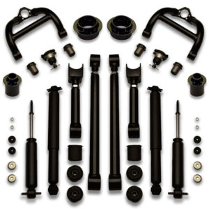 Donk suspension lift kits fit 1973, 1974, 1977, and 1978 2 door cutlass and monte carlo. Also fit 4 door Skylark on 26s.