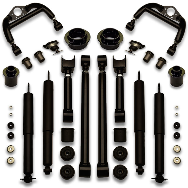 Old Ford LTD, country squire, and crown vic use this suspension upgrade lift kit for leveling car.
