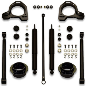 83, 84, 85, 86, 87, 88, 89, 90, and 91 Camaro lift kit cup spacer for suspension. Adjustable panhard track bar, lift shocks, and trailing arms included.