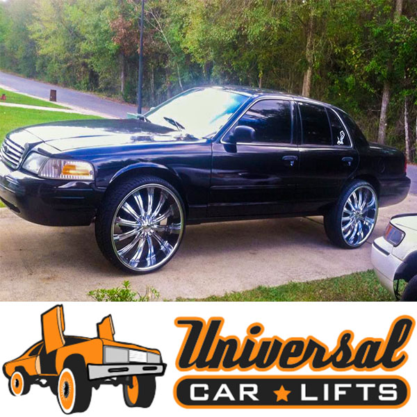 Trying to build an off road Crown Victoria? Use this suspension 4x4 lift kit from Universal Car lifts. Up to 10 inches of raise!