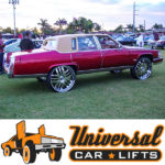 1977, 1978, 1979, 1980, 1981, 1982, and 1983 cadillac fleetwood donk rim lifted on 24s, 26s, and 28s.