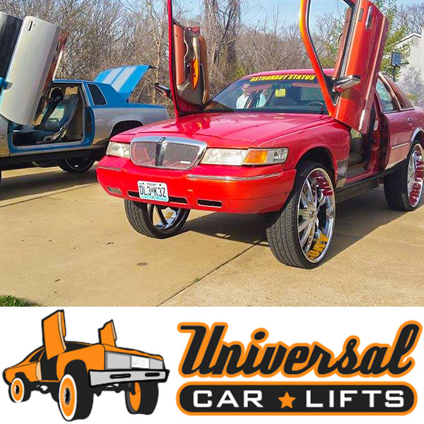 Crown Victoria k member lift kit with a arms, trailing arms, shocks, and struts.