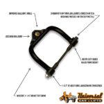 Tubular suspension control a arms lift leveling kit for El Camino, Monte Carlo, 442, Cutlass, F85, Vista Cruiser, GTO and more.