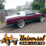 Fleetwood brougham coupe with sunroof for sale with lifted suspension kit including control arms, trailing arms, lift cups and shocks.