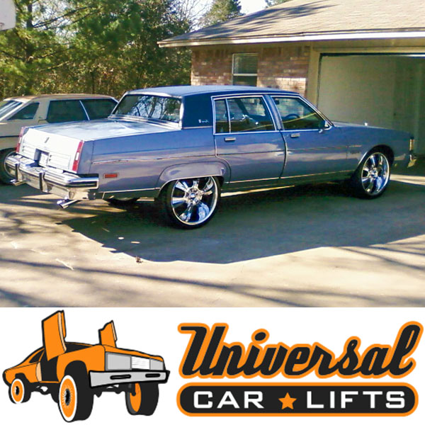 Trying to figure out what size rims for Oldsmobile 98, Buick Electra or Estate? Try 22s, 24s, or 26s with this kit.