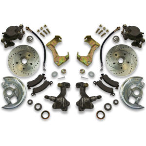 Cross drilled front brake rotors for a chevy caprice, impala, biscayne or Belair. Fit 24s or 26s.