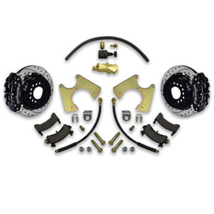 Upgrading to disc power brakes with decreased stopping distance equals better performance. A body Wilwood conversion kit includes how to instructions for installation.