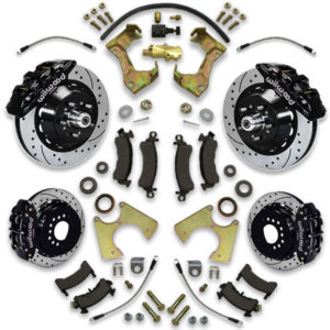 Installing big brake upgrade for Buick Electra or LeSabre is easy with disc conversion swap system upgrade with rotors and calipers from Universal Car Lifts.