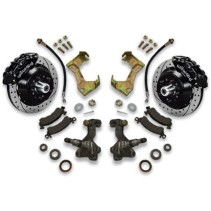 Impala big brake kit for donk years 1983, 1984, 1985, 1986, 1987 or 1988. Includes all parts to switch or swap your braking rotors and calipers.