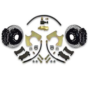4 wheel drilled and slotted rotor upgrade kit for Monte Carlo chevy including big brake upgrade system. How to instruction manual included.