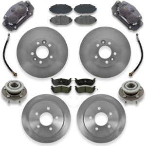Big brake upgrade kit for 1992, 1993 or 1994 ford crown victoria. Calipers, pads and rotors are included with conversion how to instructions.