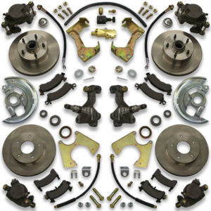Front or rear donk big brake system for Chevelle, Monte Carlo, Cutlass, Skylark and Lemans Chevy cars.
