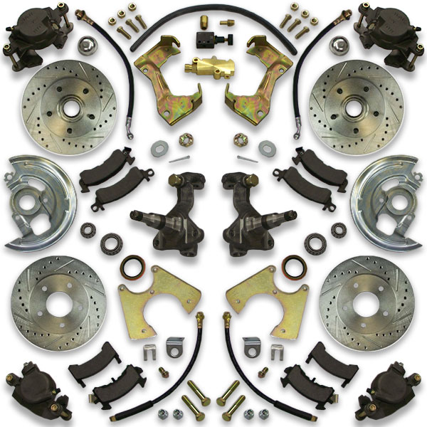 Power Brembo type brake kit for 1977, 1978, 1979 or 1980 Bonneville. Caprice, Impala and Parisienne are also included.