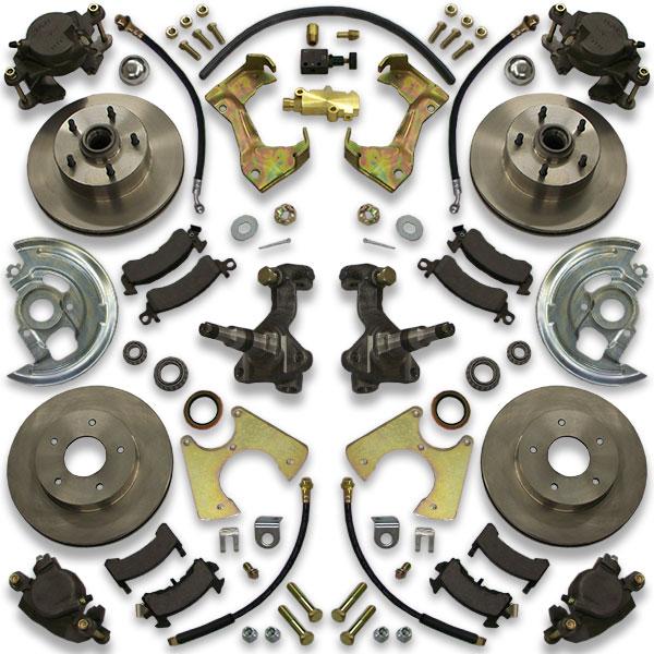 65 70 Gm B Body Disc Brake Conversion Kit 4 Wheel Impala Caprice