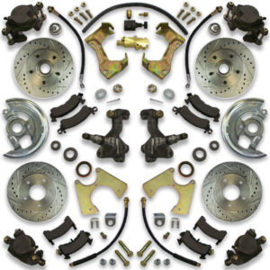1980, 1981, 1982, 1983 and 1984 Oldsmobile Cutlass big brake conversion kit for swapping large diameter cross drilled rotors.