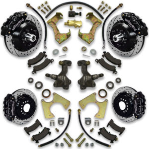 4 wheel drilled and slotted rotor upgrade kit for box chevy big brake upgrade system. How to instruction manual included.