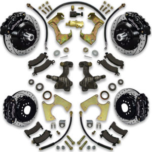 Power big brake upgrade kit with disc brake spindle conversion included for Caprice. Impala or Lesabre fitment is also available.