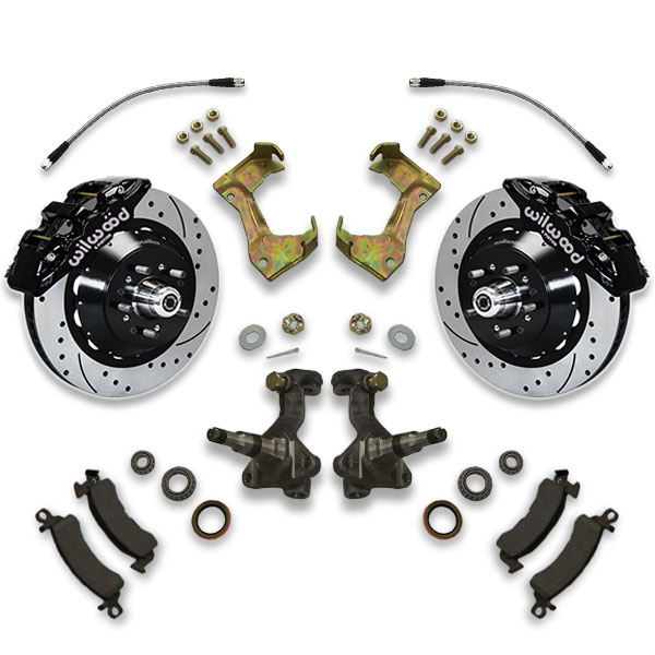 1973, 1974, 1975, 1976 and 1977 Oldsmobile Cutlass big brake conversion kit for swapping large diameter cross drilled rotors.
