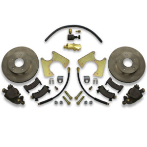 Rear drum to disc conversion kit for Chevy Malibu. Chevy A body brake swap to tall spindle front. Stopping power is increased significantly.