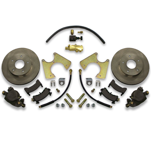 Rear drum conversion kit for a body Chevy including 1973, 1974, 1975, 1976 or 1977 model year cars like Cutlass.