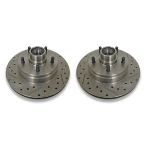 Cross drilled & slotted rotors for donk Caprice and Impala Chevy B Body cars.