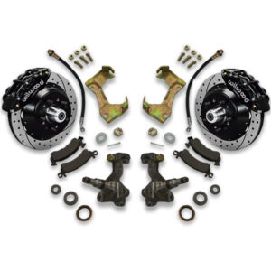 Installing big brake upgrade for Chevy is easy with disc conversion swap system upgrade with rotors and calipers from Universal Car Lifts.
