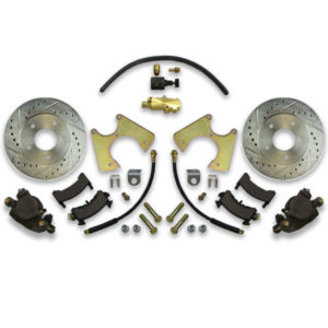 Drilled and slotted disc brake conversion kit for rear of Caprice or Impala. 1965, 1966, 1967 and more years available.