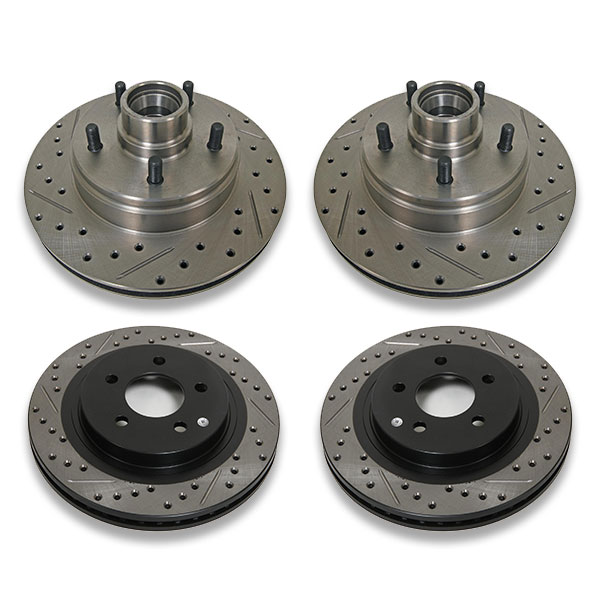 Drilled and slotted rotors for Caprice years 1991, 1992, 1993, 1994, 1995 and 1996 b body. Impala and Roadmaster are also models that this part fits.