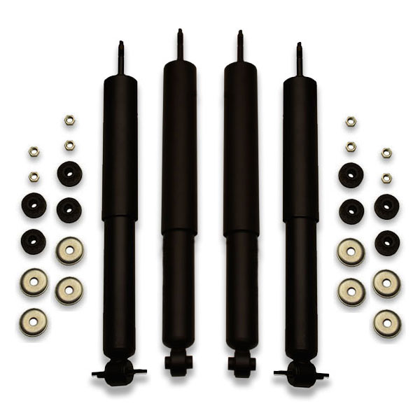 Lift shocks for a vic, marquis, town car, crown victoria and other ford panther platform vehicles. Longer extended design is used with lifted cars.