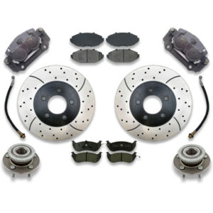 1995, 1996, and 1997 Cross drilled rotors are included with this big brake upgrade kit for marquis, crown victoria or town car. Front swap includes instruction manual.