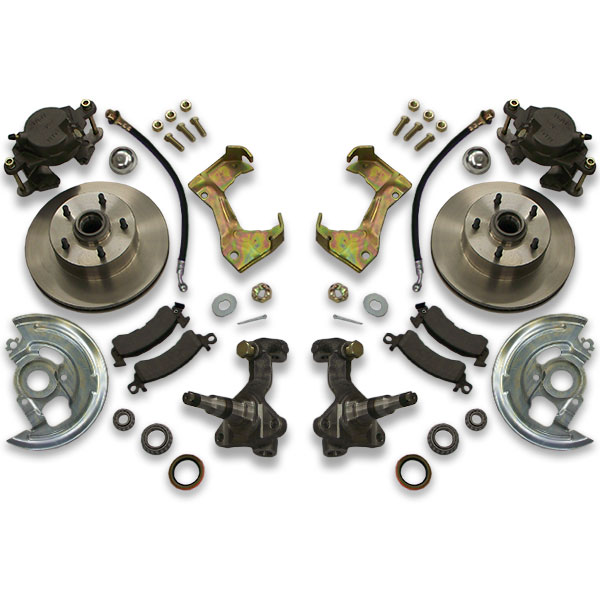 Cutlass big brake kit for rear years 1973, 1974, 1975, 1976 or 1977. Includes all parts to switch or swap your braking rotors and calipers.
