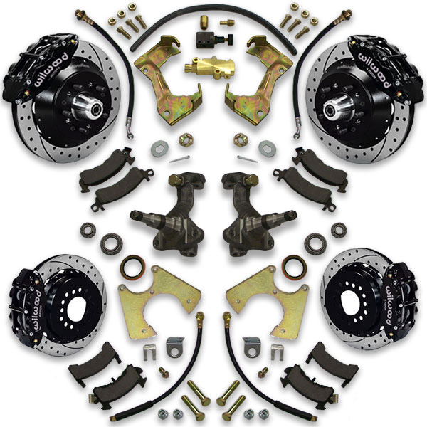 Wilwood disc brake upgrade kit for 1973, 1974, 1975, 1976 and 1977 Cutlass A body cars like Chevelle and Regal.
