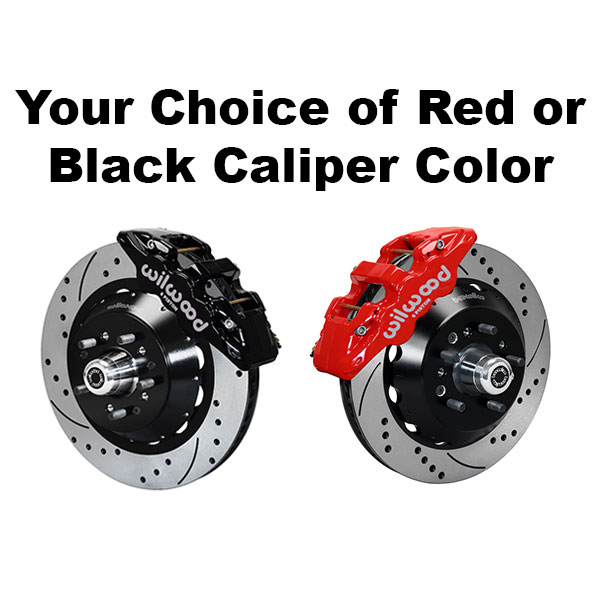 Wilwood red or black caliper selection when installing 4 wheel disc brake conversion into Donk type car.