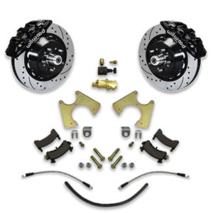 Installing big brake upgrade for A body Chevy is easy with disc conversion swap system upgrade with rotors and calipers from Universal Car Lifts.