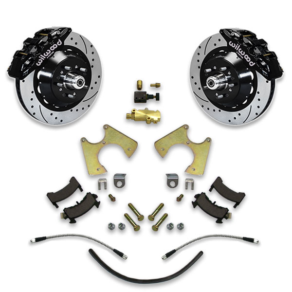77-96 GM B BODY 14″ CROSS DRILLED REAR DISC BRAKE UPGRADE KIT CAPRICE