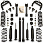 Universal Car Lifts kit installed on 73,74,75,76,77 Cutlass and Monte Carlo suspension. Control arms, adjustable trailing arms, and more is included.