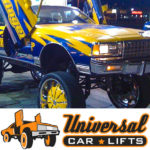 High riser caprice box lift kit installed with 30. 32 or 34 inch rims and tires.