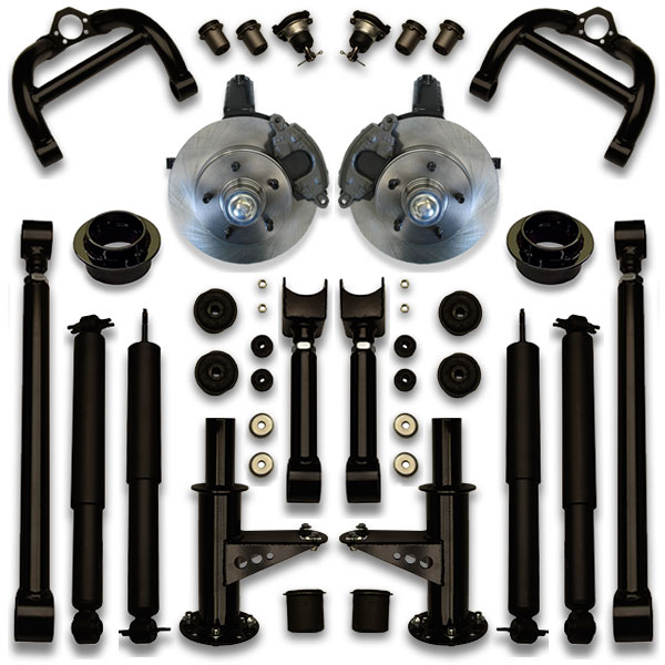 How to fit 26, 28, 30 or 34 inch rims on a bubble chevy with this coil spring suspension lift shock kit from ucl.