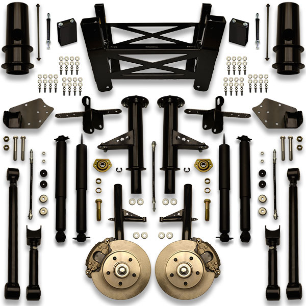 Biggest rims on a chevy caprice with no cut fenders using this suspension lift kit. No trimming body panels or frame notching.