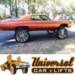 Universal lift kit installed in a Donk chevy Caprice, Impala, or Monte Carlo is easy with a high riser kit from UCL.