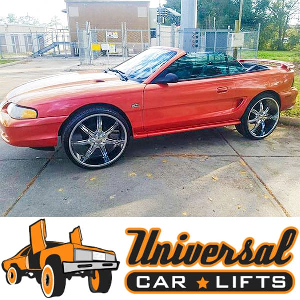 """94-04 Ford Mustang Lift Kit 3"""" To 5"""" Cups, Struts & Shocks"""